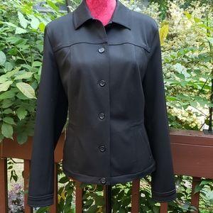 Talbots Black Stretch Poly Blend Jacket Size 12